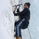 Vinterklatring på Bauntjern